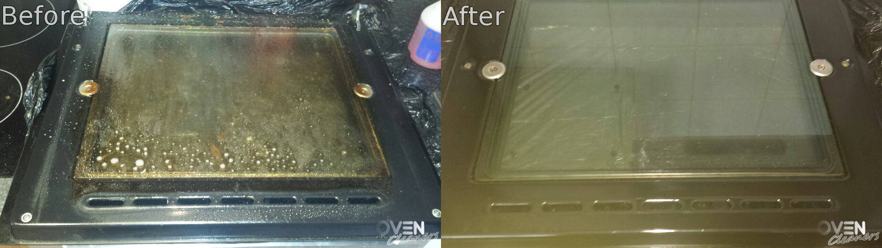 brilliant oven cleaning: before and after