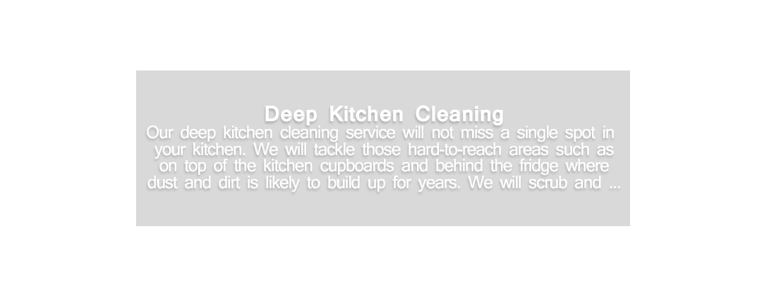 Deep Kitchen Cleaning